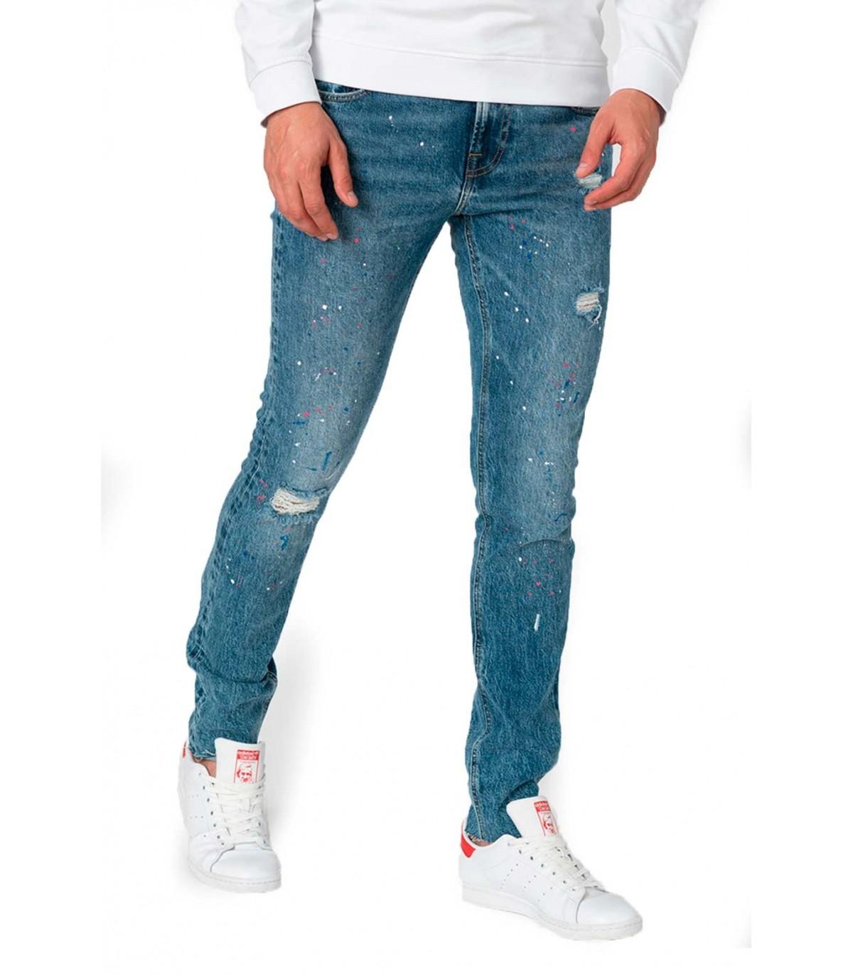 Guess Pantalon Vaquero Para Hombre Azul Chris Skinny