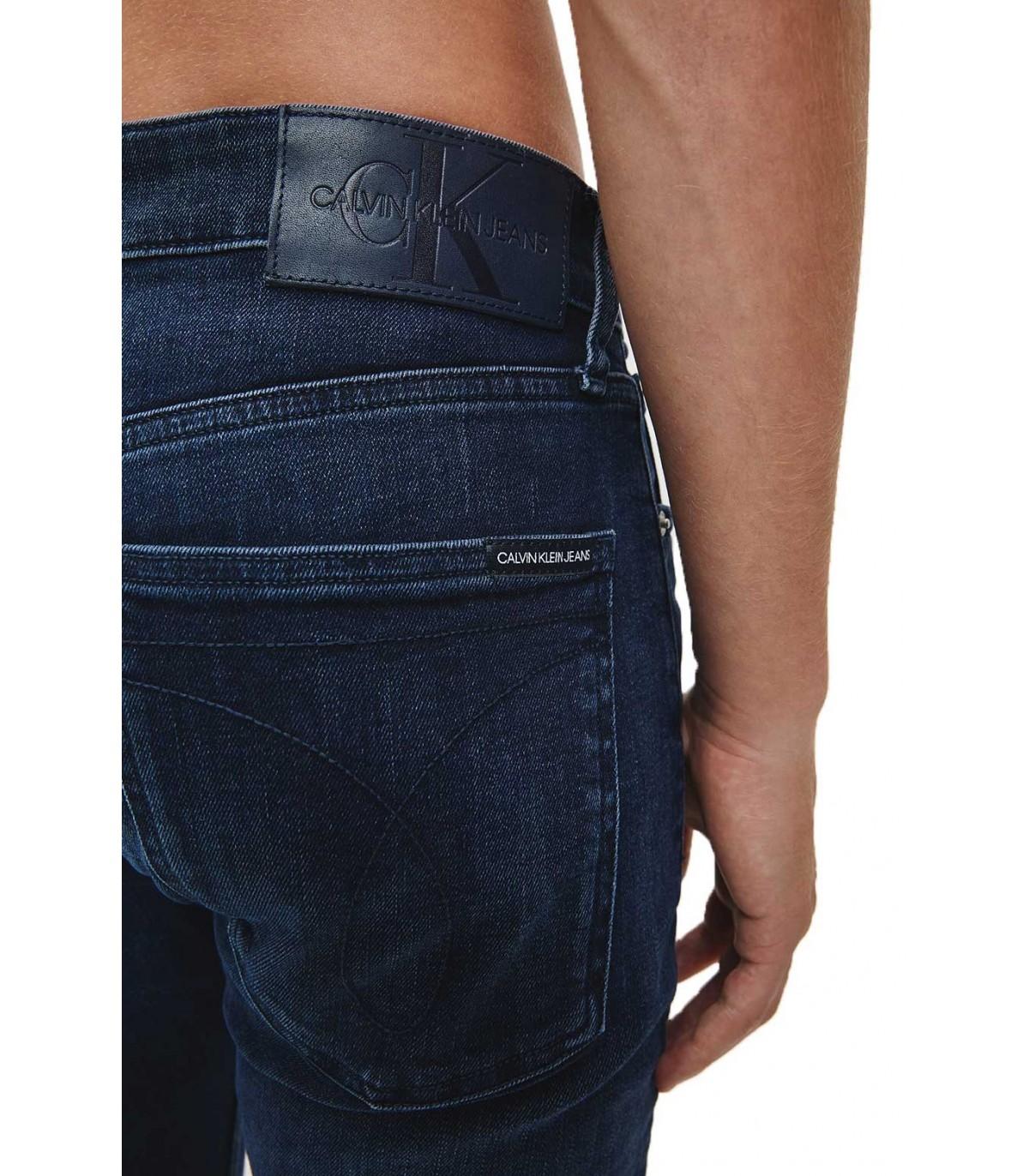 Pantalon Vaquero Calvin Klein Para Hombre Skinny Azul Oscuro Ckj 016