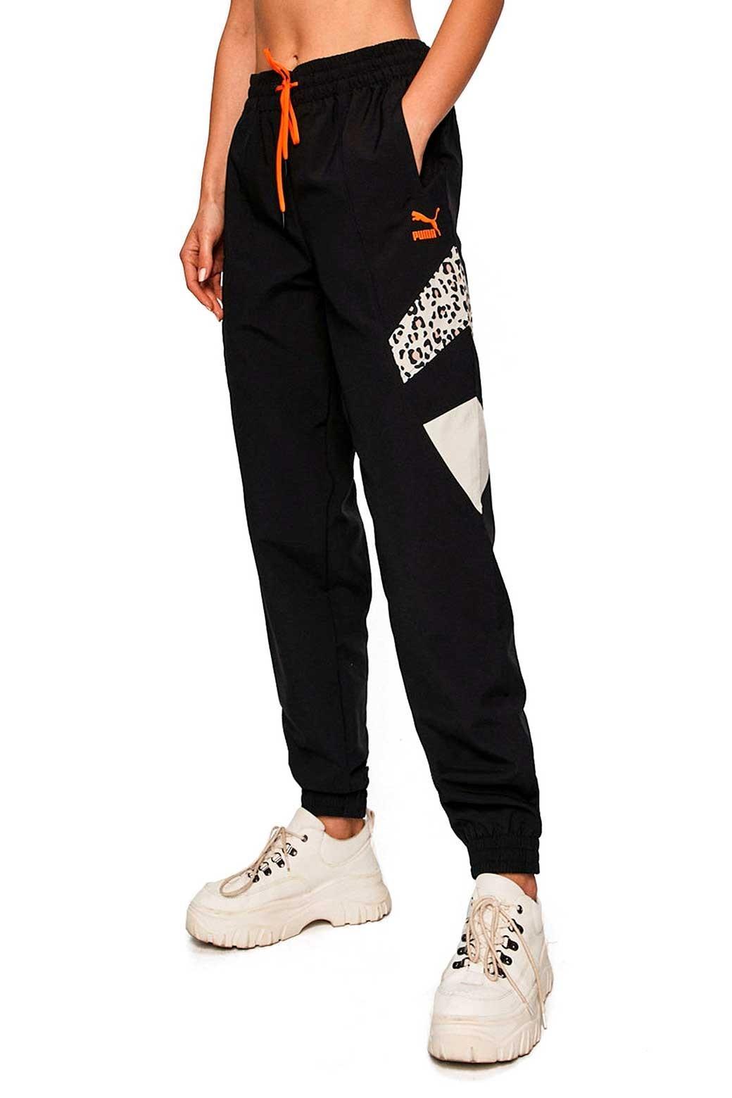 Puma Pantalon Para Mujer Negro Leopardo Tfs Track
