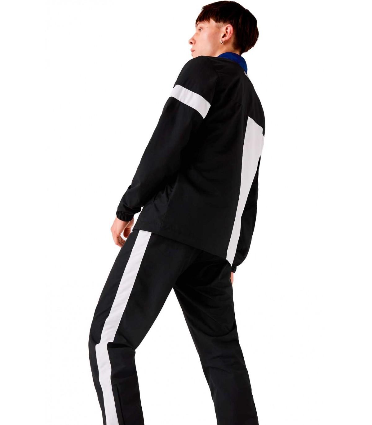 Lacoste Sport Chandal Con Cuello Alto Para Hombre Negro Azul Y Blanco Block