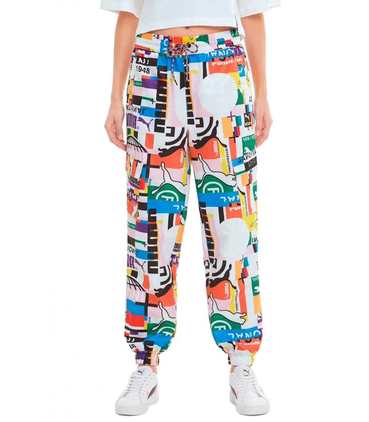 Pantalon Puma Chandal Para Mujer International Estampado