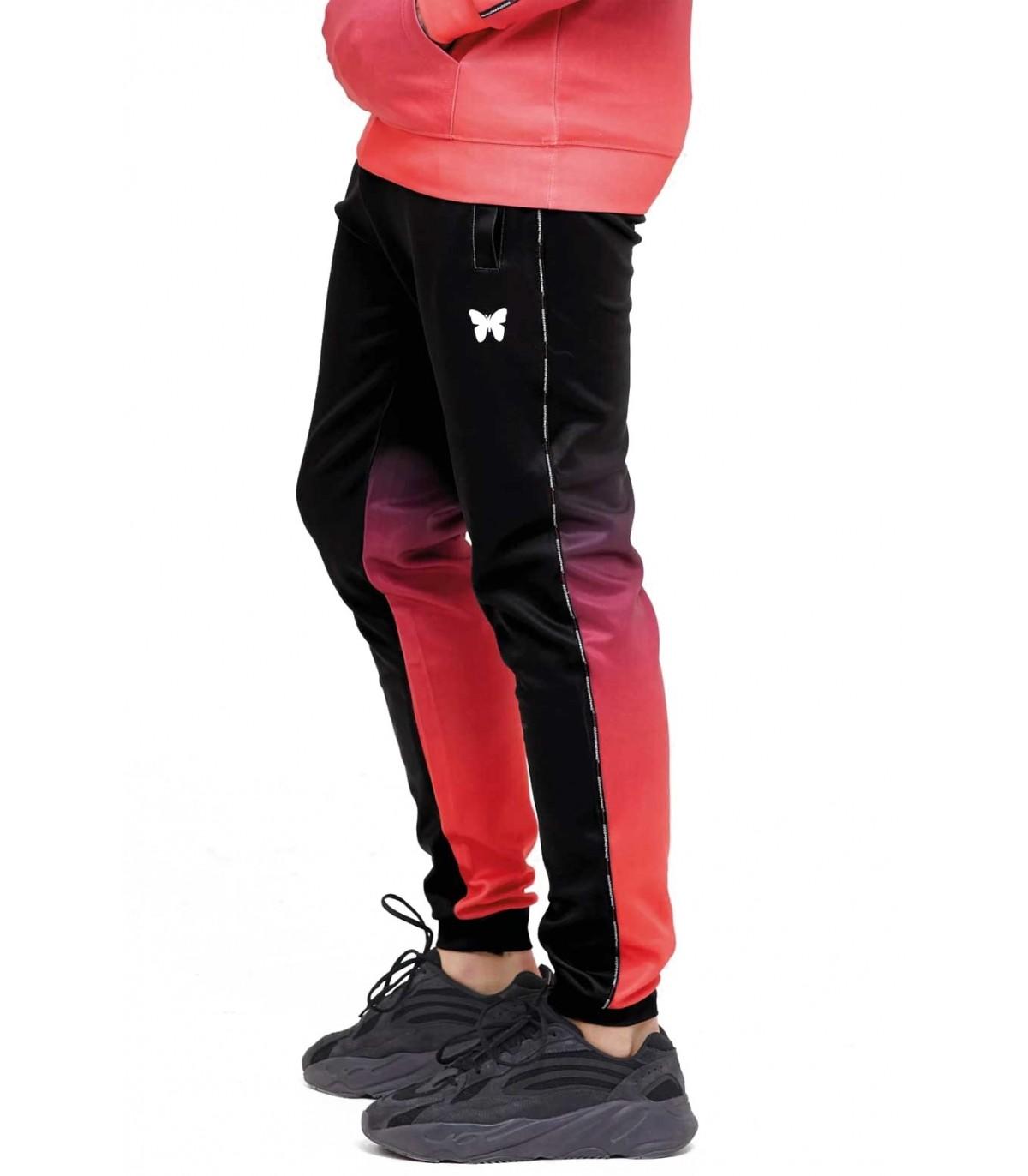 Good For Nothing Pantalon Para Hombre Negro Rojo Degradado